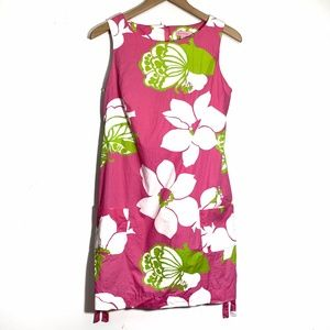 Lilly Pulitzer Size Small S Floral Sleeveless Pink